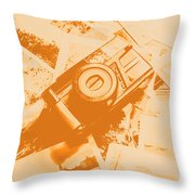 Posterised Photography Throw Pillow