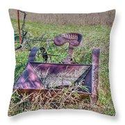 Potatoe Planter Throw Pillow