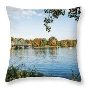 Potsdam - Havel River / Glienicke Bridge Throw Pillow