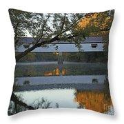 Potter's Bridge, Noblesville, Indiana Throw Pillow