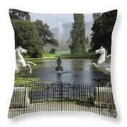 Powerscourt House Terrace And Fountain Throw Pillow
