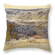 Prairie Slopes Reverie Throw Pillow
