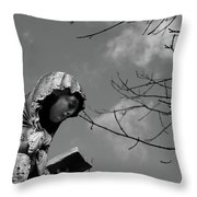 Prayer Throw Pillow by Edward Lee