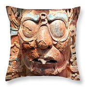 Pre-columbian Eye Glasses, Palenque, Mexico Throw Pillow
