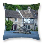 Pre-dawn In Castle Combe Throw Pillow by Brian Jannsen