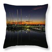 Pre-dawn Marina Throw Pillow by Tom Claud