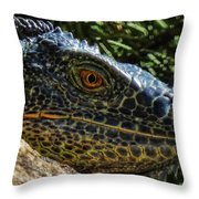 Prehistoric Portrait Throw Pillow