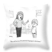 Presidential Language Throw Pillow