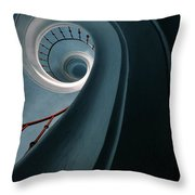 Pretty Blue Spiral Staircase Throw Pillow