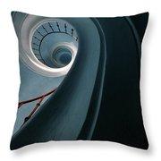 Pretty Blue Spiral Staircase Throw Pillow