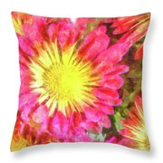 Pretty Fall Beauties Throw Pillow