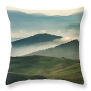 Pretty Morning In Toscany Throw Pillow