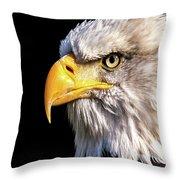 Profile Of Bald Eagle Throw Pillow