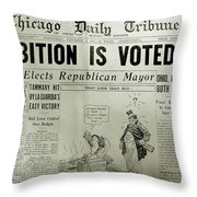 Prohibition Voted Out Throw Pillow