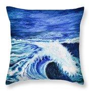 Promethea Ocean Triptych 1 Throw Pillow
