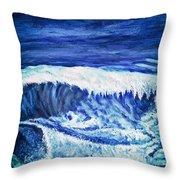 Promethea Ocean Triptych 2 Throw Pillow