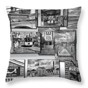 Provincetown Cape Cod Massachusetts Collage Pa Bw Throw Pillow