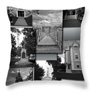 Provincetown Town Hall Cape Cod Massachusetts Collage Bw Vertical Throw Pillow