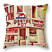 Provincetown Tradition Lobster Pot Throw Pillow