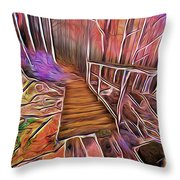 Psicodelic Landscape Throw Pillow