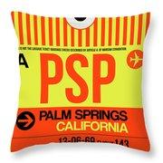 Psp Palm Springs Luggage Tag I Throw Pillow