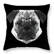 Pug's Face Throw Pillow