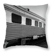 Pullman Passenger Cars Santa Fe Railroad Throw Pillow