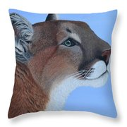 Puma Throw Pillow by Tracey Goodwin