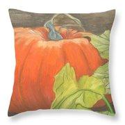 Pumpkin In Patch Throw Pillow