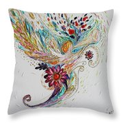Pure Abstract #4. Trumpeting Angel Throw Pillow