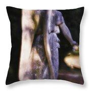 Purple Angel Throw Pillow