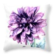 Purple Blend Petals Two Throw Pillow