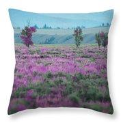 Purple Grain Throw Pillow