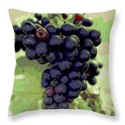 Purple Grape Bunches 19 Throw Pillow