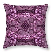 Purple Lilac Gardens And Reflecting Pools Fractal Abstract Throw Pillow by Rose Santuci-Sofranko