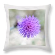 Purple Peace Throw Pillow