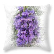 Purple Texas Mountain Laurel Flower Cluster Throw Pillow by Patti Deters