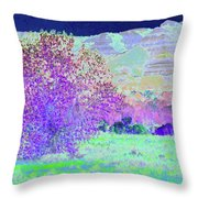 Purple Tree Reverie Throw Pillow