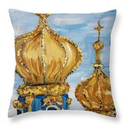 Pushkin Palace Towers Throw Pillow