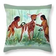 Putting On The Spots Throw Pillow