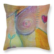 Puzzling Over Plastics Throw Pillow by Kim Nelson