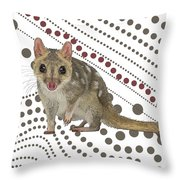 Q Is For Quoll Throw Pillow