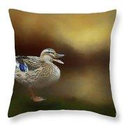Quack Quack Throw Pillow