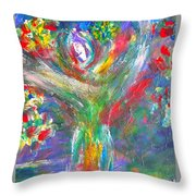 Queen Of The Lotus Flower Throw Pillow