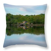 Quiet Evening By The River Throw Pillow by Michael Hope