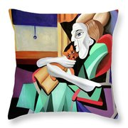 Quiet Time Throw Pillow by Anthony Falbo