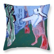 Rabbit By A Tree Throw Pillow