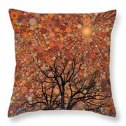 Radiant Morning Throw Pillow