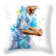 Raheem Sterling, Manchester City Throw Pillow