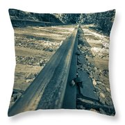 Rail Away  Throw Pillow